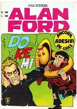 fumetto ALAN FORD N.106 Editoriale Corno con ADESIVI