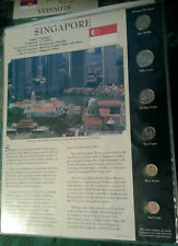 Coins from Around the World Singapore 1995 - 2006 BU UNC $1, 10 Cents 2006