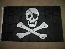 3x5 Embroidered Jolly Roger Pirate Eye Patch 600D 2ply Nylon Flag 3'x5'