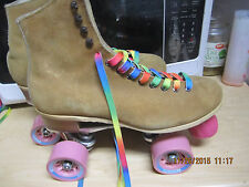 Women Riedell Suede size 8 Heel to toe  9 7/8in. Roller Skates