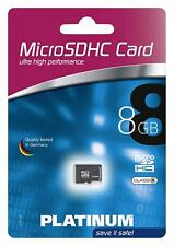Platinum Micro SD HC 8 GB SDHC Class 6 Speicherkarte