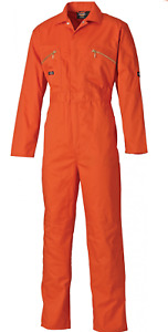 Dickies WD4839 Redhawk Overall Zip Front Coverall Boiler Suit WD4839 | Orange