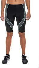 NWT CW-X Women's Pro Endurance Pro Shorts, Black/Grey/Turquoise, Large