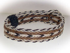 Braided Horse Hair Bracelet One Size Fits All Black/White/Brown WIDE