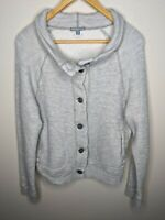 STANDARD James Perse Gray Linen Cotton Blend Jacket Sweater Womens Sz 4 USA Made
