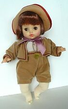 """HORSMAN 1968 LESLIE Doll 16"""" Vinyl with Cloth Body Heart Necklace"""