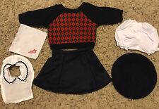 American Girl doll Molly Meet Outfit 6 Piece Sweater Hat Skirt
