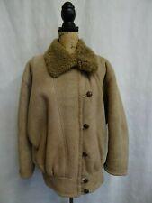 Women's Brown Sheepskin Shearling Coat Size 18