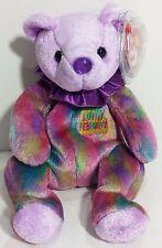 "TY Beanie Babies ""FEBRUARY"" the HAPPY BIRTHDAY Teddy Bear - MWMTs! PERFECT GIFT!"