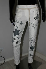 Made in Italy Baggy Boyfriend Jeans Jeggings Stretch Gr.M 38 40 Star weiß Chino