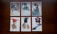 6 Vintage ? Postcards .