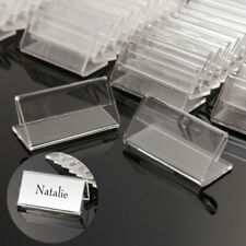 Desk Sign Acrylic Mini Table Decoration Label Holder Price Tag Display Stand Us
