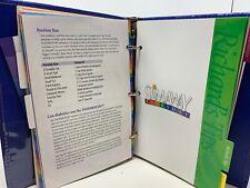 Richard Simmons Food Mover / Recipe Cards / Slim Away Everyday Notebook Binder
