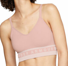 Under Armour Seamless Longline Womens Sports Bra - Pink