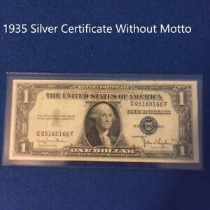 1935  $1 DOLLAR BILL SILVER CERTIFICATE BLUE SEAL NOTE (Fine)