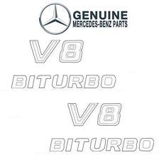 For Mercedes W166 Pair Set of Front Left & Right 'V8 BITURBO' Emblems Genuine
