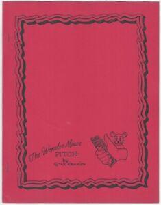 The Wonder Mouse Pitch by Stan Kramien Magic Showmanship Booklet