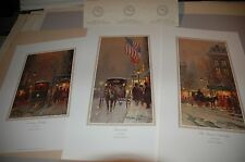 G Harvey AVENUES OF LIGHT S/N paper Historic Suite SET OF 3 Limited Editions COA
