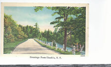Greetings From Unadilla  New York   Mailed 1948   Postcard 5304