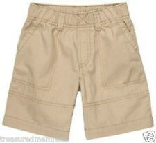 Carter's Peached Canvas Woven Khaki Shorts Size 3t With Tags