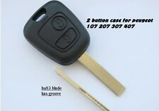 For Peugeot 107 207 307 EXPERT key fob remote case and blade 2 buttons