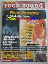 rivista ROCK SOUND 3/1998 + CD Feat Factory Afterhours Foo Finghters Rancid Orgy