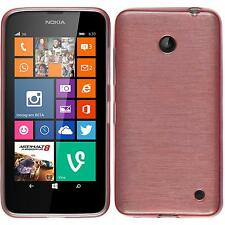 Funda de silicona Nokia Lumia 630 brushed - rosa Case