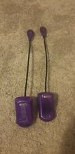 Two mighty bright purple led flexible clip on booklights
