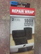 2 roll Medium FiberFix Fiber Fix Repair Wrap Fiberglass Tape Seal 2in x 50 Black