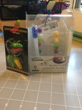 Trudeau Glass Tags With Marker And Drink Charm Set Lot New
