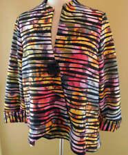 NWT New Joseph Ribkoff Multi Striped Assymetrical Jacket US 10 UK 12 Fits 12 14