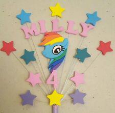 Handmade Personalised Pony Rainbow Dash Cake Topper (unofficial)