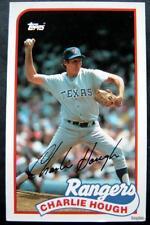 1989 Topps Baseball Talk Card Charlie Hough Texas Rangers # 160