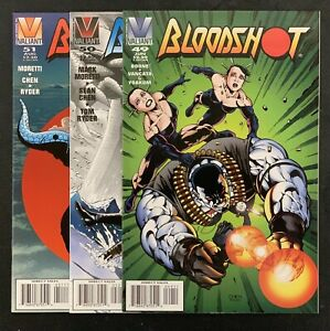 BLOODSHOT #49-51 (1993) Valiant Comics SCARCE FINAL ISSUES! NM 9.4 or better!