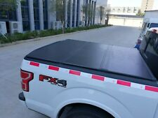 Aluminum Solid Trifold Hard Tonneau Cover 04-19 Ford F150 5.5' Short Bed Clamps