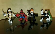 Battle for New York Superhero Squad Set Lot 4 White Electra Spider-Man GR SHS