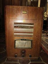 RAR ANCIEN GRAND POSTE DE RADIO A LAMPES TSF DUSAUTOY PLATINE PAILLARD DECO LOFT