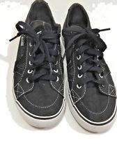 Women's Vans Tory Black Canvas Shoes Low Top Size 6 Skate Retro