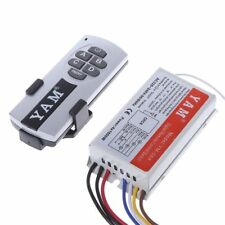 4 Way 200-240V ON/OFF Wireless Remote Control Switch Digital Receiver Lamp