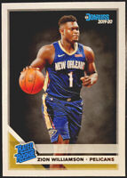 🔥 ZION WILLIAMSON RC 2019-20 Donruss Rated Rookie #201 Base CENTERED! Pelicans