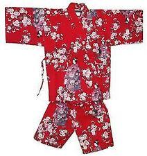 """Japanese Kimono Jinbei Shorts Girl 9-10yr 20"""" #3L EK121"""