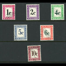 SOUTH AFRICA 1961 Postage Due Set of 6 Values. SG D45-D50. Fine Used. (WB785)