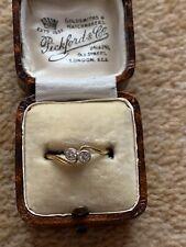 Antique Art Deco 18ct Gold Diamond Crossover Ring