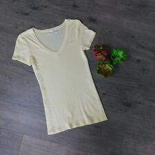 "MICHAEL STARS ~ Yellow V Neck Original Tee ""One Size Fits Most"" Short Sleeves"