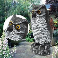 1× Plastic Imitation Animal Bird Scare Repellent Garden Decor Small Owl Ornament