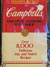 Campbells Creative Cooking with Soup 8000 Recipes Booklet 1985