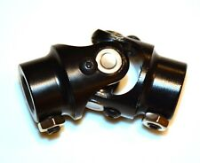 "BLACK Steering Shaft U-Joint 3/4"" DD x 3/4"" DD street rod coupler"