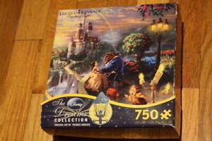 Disney Dreams Thomas Kinkade Beauty and The Beast Castle - 750 Pieces Puzzle