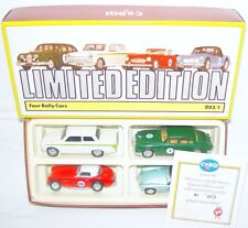 Corgi Toys 1:43 JAGUAR AUSTIN HEALEY MGA FORD CORTINA ALPINE RALLY 4-Car Set MIB