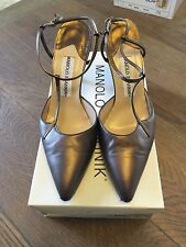 Manolo Blahnik Sz 8 1/2b~38 1/2 Women's Shoes Casandra $515.00 Retail Used w/BOX